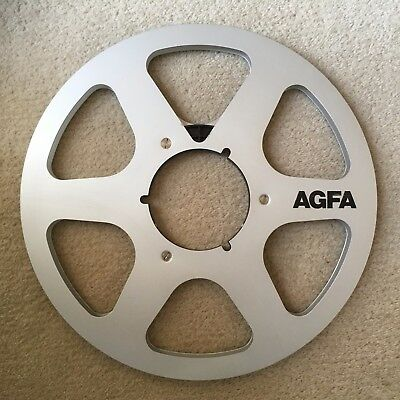 """AGFA reconditioned open reel metal audio spool 1/4"""" x 10.5"""" ( without tape )"""