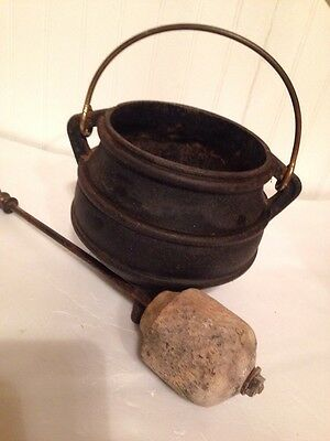 Antique Cast Iron Kettle 163 38 00 Picclick Uk
