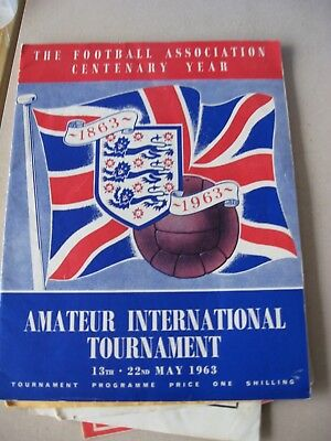 1963 FA Cententary Amateur International Tournament 13th-22nd May 1963