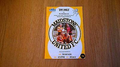 1989-90 Maidstone v Scarborough - first game in League
