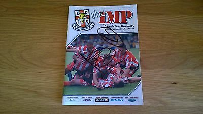 2006-07 Lincoln City v Liverpool - Friendly - autographed