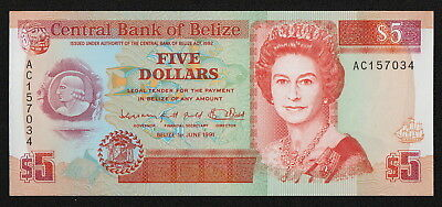 BELIZE (P53b) 5 Dollars 1991 UNC