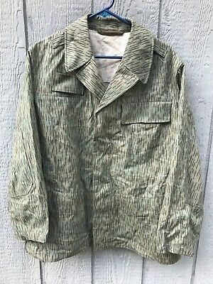 Vintage 60's Czeck Army Military Camo Field Combat Jacket Dated: 1965 Medium