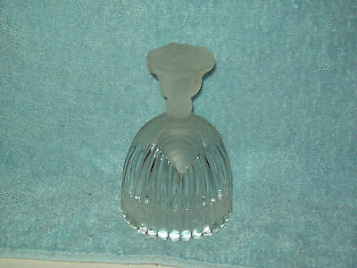 Vintage  Goebel Frosted Crystal Glass Happy Birthday Bell