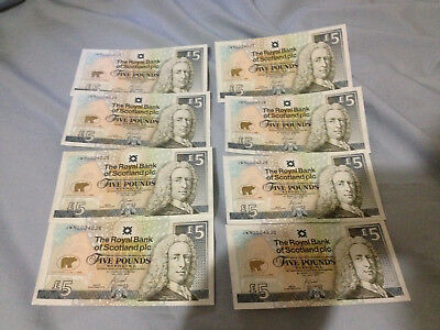 JACK NICKLAUS BANK OF SCOTLAND 5 POUND NOTE BRITISH OPEN UNC. Consecutive notes