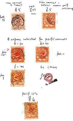 DENMARK  EARLY STAMPS on CLUB BOOK PAGE