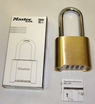 Master Lock 975 LH Resettable Combination Padlock Brass 4 Dial 975LH 175 LOT