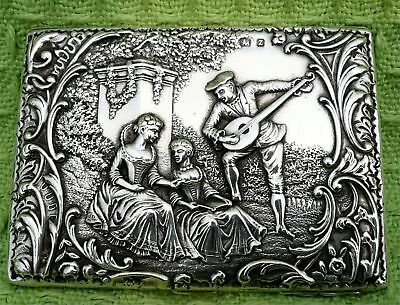 Stunning Relief Decorated Victorian Silver Cigarette Or Card Case - B'ham 1899