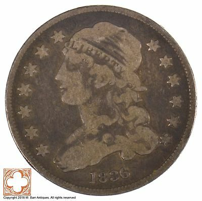 1836 Capped Bust Quarter Dollar *J96
