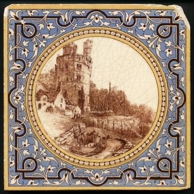 TH3094 Mintons Scenic Views Transfer Printed Tile c.1888