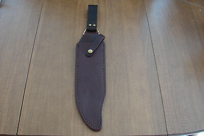 Large Brown Leather Bowie Sheath Fits Western W49 Knife - No Knife Included