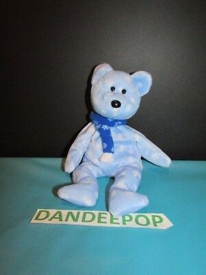 TY Retired Beanie Baby Blue Snowflake Holiday 1999 bear Retired Ty with tags