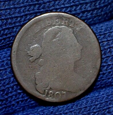 1807 LARGE CENT**Large Fraction**MUST SEE**TWO ERRORS !