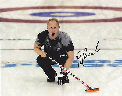 Brad Jacobs Signed Autographed Canada Curling Olympics 8X10 Photo Exact Proof #3