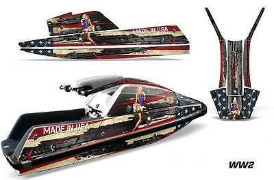 AMR Racing Jet Ski Wrap For Yamaha Super Jet Square Graphic Kit All Years WW2