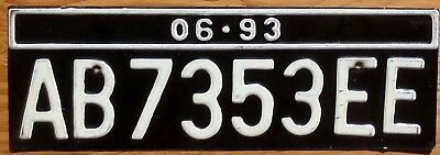 1993 Indonesia License Plate Number Tag - $2.99 Start