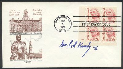 U.S. #2190 First Day Cover with Ted Kennedy Autograph