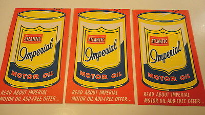 3 vintage 1964 atlantic imperial motor oil Free can offer FLYER Gas Station