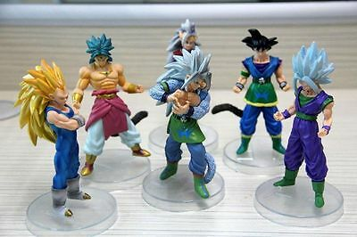 Dragon Ball Z AF Super Saiyan 6x Figures Set Goku Broly Vegeta Supreme Kai New