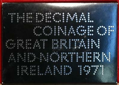 Uncirculated 1971 Decimal Coinage Of Great Britain & Northern Ireland Proof Set