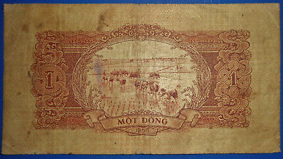 B065 - BANK NOTE - 1958 - VIETNAM - End of French Rule - WAR NOTE - 1 DONG