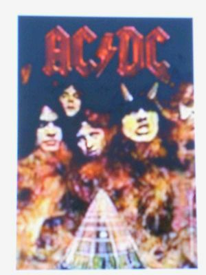 "Ac/dc Highway To Hell Logo Screen Printed 30""x40"" Wall Hanging Fabric Poster New"