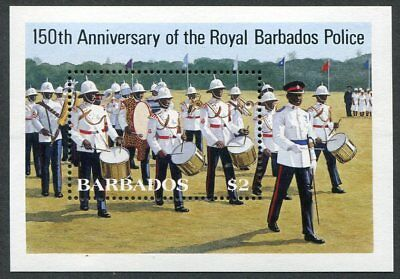 BARBADOS  Beautiufl  Mint  Never  Hinged  Sheet  ROYAL  POLICE  UPTOWN 30068
