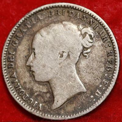 1868 Great Britain 6 Pence Silver Foreign Coin Free S/H