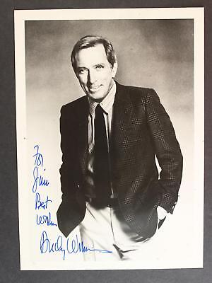 SINGER ANDY WILLIAMS (1927-2012) AUTOGRAPH 5 x 7 PHOTO~