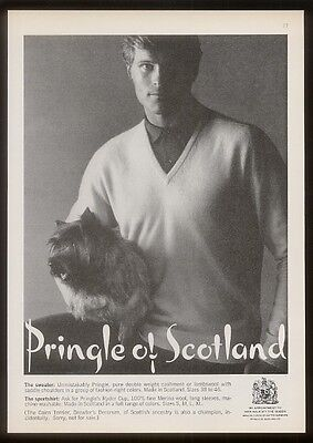 1969 Cairn Terrier photo Pringle of Scotland sweater vintage print ad