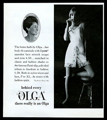 1968 Olga lingerie woman in sexy camisole photo vintage print ad