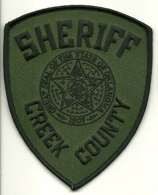 SWAT subdued CREEK County Sheriff State of OKLAHOMA OK Shoulder Patch