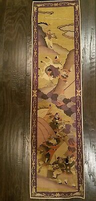 Museum quality Chinese Qing Dynasty Kesi panel warriors no reserve!