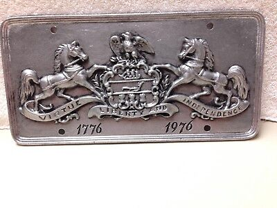 Vintage unused 1976 Pennsylvania Bicentennial Wilton Pewter license plate