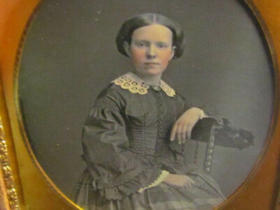 pretty victorian woman daguerreotype photograph
