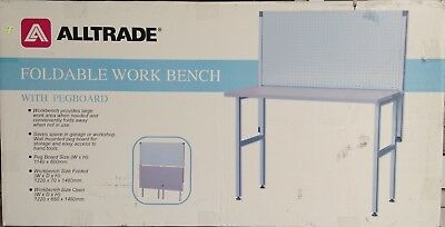 Foldable Workbench With Pegboard ATWB1200F