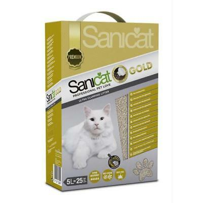 SANICAT Litiere Gold Ultra Clumping 5L - Pour chat