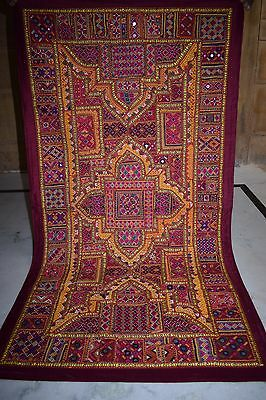 Vintage Embroidered Wall Hanging Patchwork Sari Tapestry