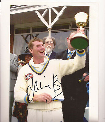 Yorkshire CCC - County Champions 10x8 Glossy Colour Photo - SIGNED by David BYAS