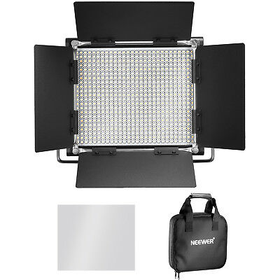Neewer Regulable Bi-Color 660 Led Luz 3200-5600K Con Soporte U Y Barndoor Kit