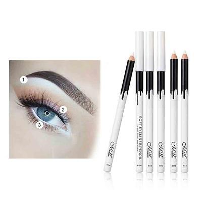 12PC White Eyeliner Pencil Eye Liner Waterproof Long Lasting Eye Brighten