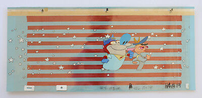 Ren & Stimpy Marooned Space Madness Production Cel Cell And Nickelodeon Art