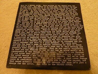 XTC - GO 2 - UK LP + Foldout Insert - V2108 - Good Condition