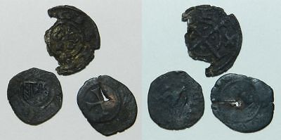 3 Medieval Coins - Italy / Sicily