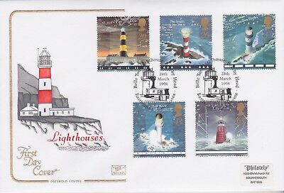 Gb Stamps First Day Cover 1998 Lighthouses Belle Rare Pmk Cotswold Collection