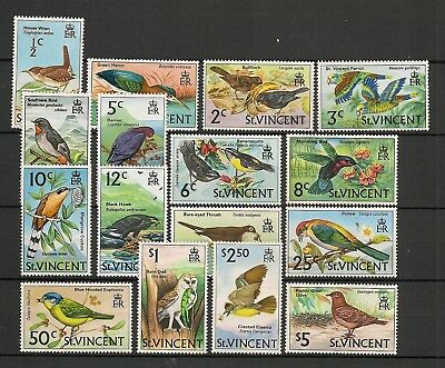 St. Vincent 1970 Wildlife Fauna Birds Vögel Oiseaux complete set to $5 MNH