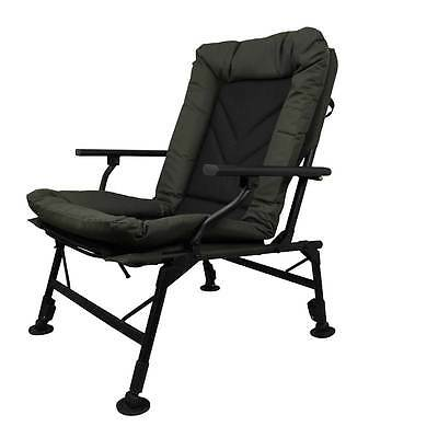 Prologic New Comfort Carp Chair With Arms Ultra Padded Fishing Adjustable Legs
