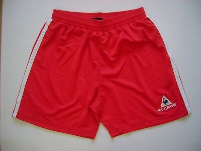 "44 x Boys/Youths Football Shorts 30-32"" Red & White trim' by 'Le Coq Sportif'"