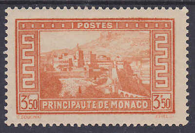 698) MONACO 1933 - 3.50 Franc PRINCE'S RESIDENCE - MINT LIGHTLY HINGED - PERFECT