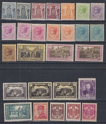 699) Monaco 1922/30 - Mint Lightly Hinged - Perfect - 3 Stamps No Gum